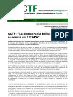 La Democracia Brilla Por Su Ausencia en FITAPA