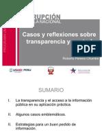 Casos y reflexiones sobre transparencia y control