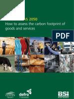 PAS2050 Guide Cómo evaluar la huella de carbono bienes y servicios