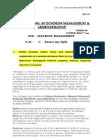 Answered - Strategic Management