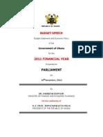 2011 Statement Budget Amos