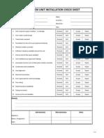 AC System Check Sheet