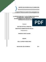 LA PROTECCION CIVIL Y LOS ACTORES SOCIALES EN LA APERTURA Y OPERACION DE LOS ESTABLECIMIENTOS DE SERVICIOS