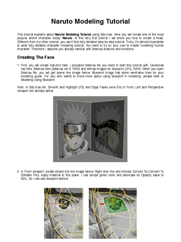 Naruto 3d modeling vertex geometry polygon malvernweather Gallery