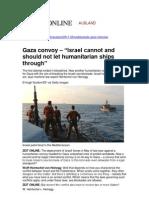 Gaza convoy – Legal Position