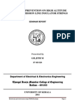 flash over prevention on high altitude transmission lines