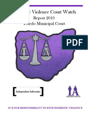Final Court Watch Report 2010 | Victimology | Domestic Violence