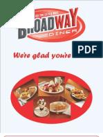 Broadway Diner Menu