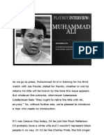 Mohammed Ali Interview