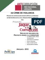Informe de Vigilancia Proyecto jaque a la corrupción - Arequipa