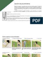 Manual Medicion Pluviometros