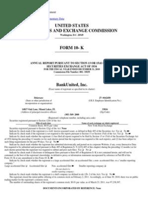 Bank United, FSB Form 10 K(Mar 31 2011) | Federal Deposit
