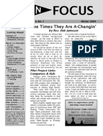 In FOCUS Newsletter - Winter 2009