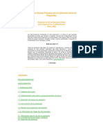 Guías sobre Buenas Prácticas para la Aplicación Aérea de Plaguicidas