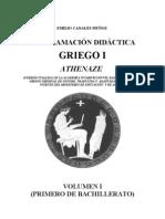 PROGRAMACIÓN DIDÁCTICA GRIEGO 1ºBACHILLERATO ATHENAZE
