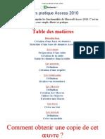 Cours Pratique Access 2010