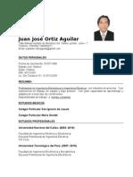 Juan Jose Ortiz Aguilar Curriculum