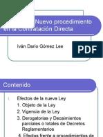Causales y Nuevo Procedimiento en La Contratacion Directa