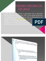 Antecedentes Historicos de Linux