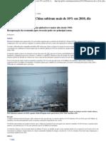 Natureza - Emissões de CO2 da China subiram mais de 10% em 2010, diz relatório