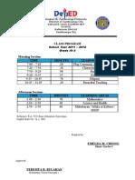Class Program 11