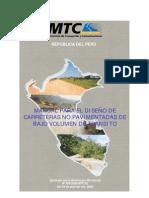 Manual Diseño No Pavimentadas