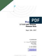 IVT BlueSoleil 2.7.0.8 VoIP Release 070930 Release Note