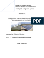 Resumen de Proyecto FV Para Invernadero