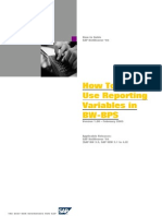 How to Use Reporting Variables in BW-BPS