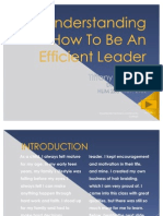 Understanding How to Be an Efficient Leader