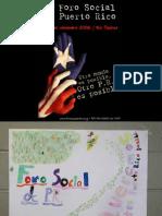 Primer Foro Social de Puerto Rico / nov. 2006 (algunas fotos)