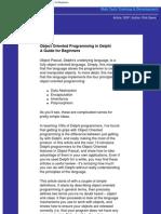 Object Oriented Programming in Delphi