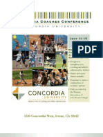 2011 California Coaches Conference | Conference Schedule