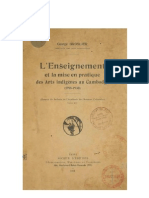 L' Enseignement et la mise en pratique des arts indigènes au Cambodge 1918-1930  par George Groslier