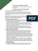Las 3 Razones Para Que Tus Documentos Sean PDF
