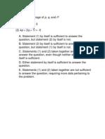 GMAT Practice Set 5 - Quant