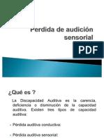 Perdida de audición sensorial