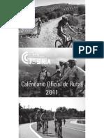 CALENDARIO DE MARCHAS DEL CLUB CICLISTA TOSIRIA 2011