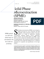 Solid Phase Micro Extraction (SPME)