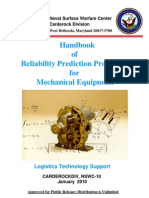 NSWC Handbook of Reliability Prediction Procedures for Mechanical Equipment, Handbook 2010