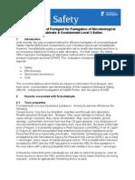 Hydrogen Peroxide Fumigation Writeup