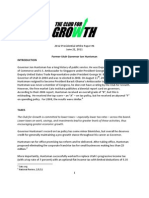 Club for Growth White Paper on Huntsman