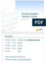 Routing Registry Training Slides