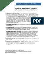 Desktop Maintenance Checklist