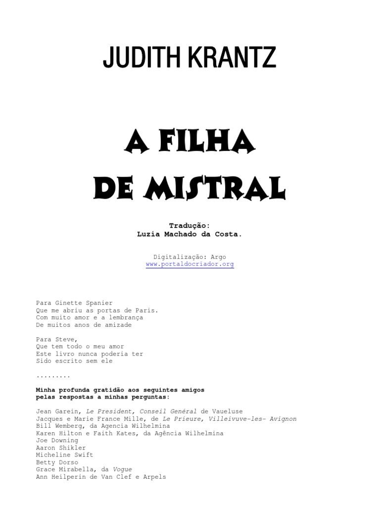 Livro judith krantz a filha de mistral fandeluxe Gallery