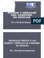 Signos y señales de consumo de drogas