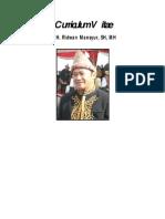 CV Calon Ketua Umum IKAXA - Ridhwan Mansyur