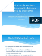 Capacitación planeamiento didáctico, creación de ítems y