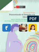 1461 documento tecnico  promoviendo el derecho a la  Identificación