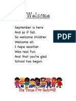 Fluency Poems to Print